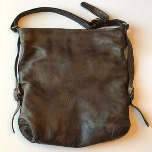 Tano dark brown leather purse / bag